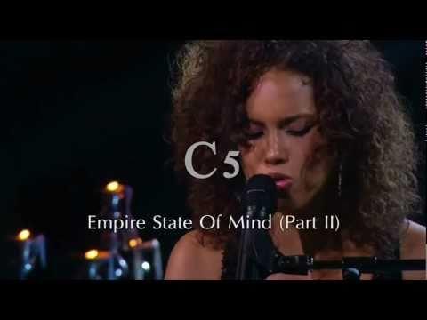 [HD] Alicia Keys - Piano & I AOL Sessions Live Vocal Range C3 - G#5