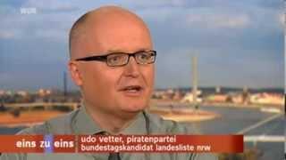 WDR EinsZuEins - @UdoVetter Interview (1/2) Die Piratenpartei vor der Bundestagswahl - 05.09.13