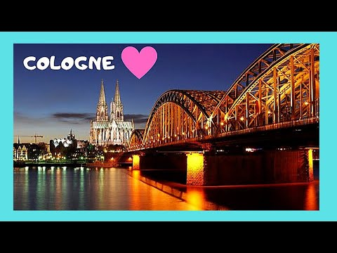 COLOGNE (Köln), the beautiful WATERFRONT on RIVER RHINE (GERMANY)