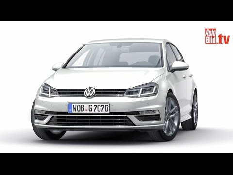 neues golf gesicht vw golf 7 facelift 2016 youtube. Black Bedroom Furniture Sets. Home Design Ideas