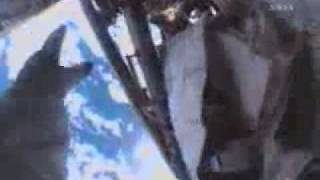 Astronaut loses tool bag during EVA