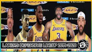 Los Angeles Lakers Defensive Starting Five (Plan B)