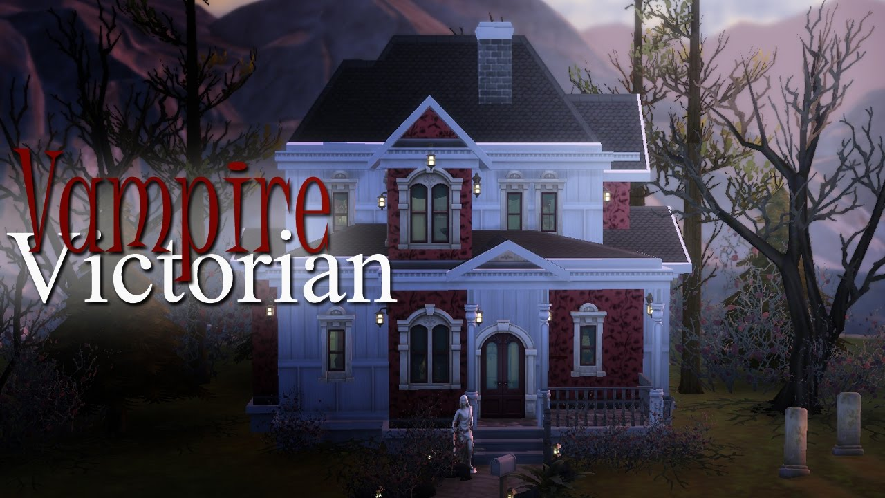 The sims 4 speed build vampire victorian youtube for How to build a victorian house