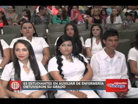 63 Estudiantes En Auxiliar De Enfermería Obtuvieron Su Grado - YouTube