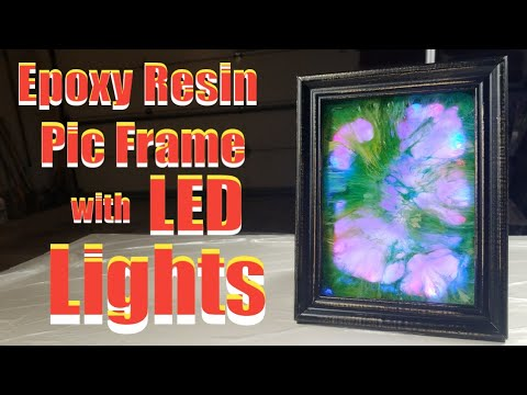 How to make Epoxy Resin Pic Frame with LED Lights. Tutorial