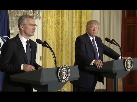 Trump And NATO Secretary General News Conference  Full Event