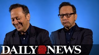 Rob Schneider does his best Lorne Michaels and Adam Sandler impressions