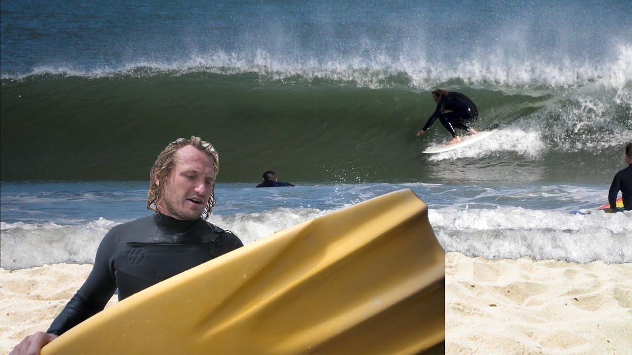 "Testing My Finless 4'6"" Channel Bottom Surfboard"