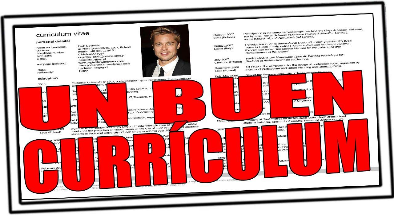 Cómo hacer un buen currículum | #tutorial #CV - YouTube