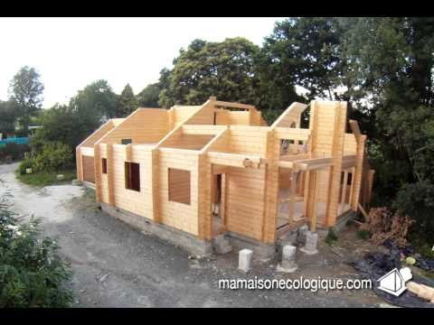 Montage Auto Construction Maison Bois En Madriers Youtube