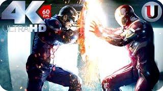 Iron Man vs Captain America & Bucky Part 1- Captain America Civil War 2016 MOVIE CLIP (4K)