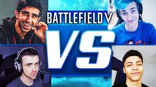 Vikkstar & Dr Lupo vs Ninja, TSM Myth & More! - BATTLEFIELD 5 Gameplay