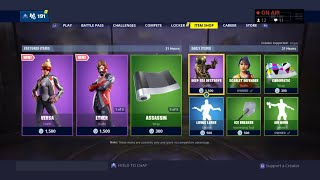*NEW* Versa And Ether Skins In Item Shop Fortnite Live (PS4)