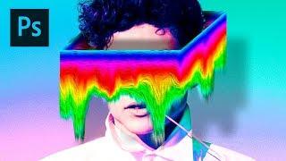 Colorful glitch effect - Photoshop Manipulation Tutorial Episode 1