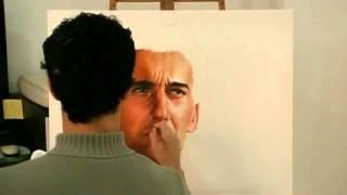 Realistic painting oil on canvas  Ayrton Senna  pintura realista
