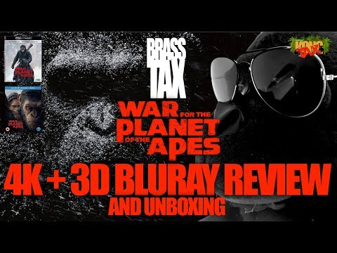 War for the Planet of the Apes 4K + 3D Bluray Review and Unboxing