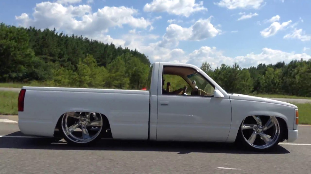 All Chevy 1989 chevy : 1989 Chevy 1500 square body bagged on 24's OBS - YouTube