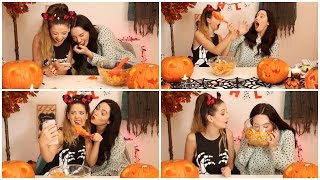 Pumpkin Carving Shenanigans with Gabby | Zoella Thumbnail