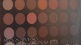 bh cosmetics modern neutrals palette swatches and review