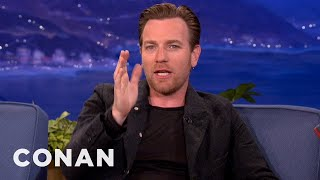 Ewan McGregor Buzzed Scotland In His Brother's Fighter Jet - CONAN on TBS