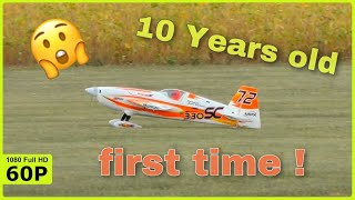 10 YEAR OLD MAX FLIES HIS EXTRA 330SC FIRST TIME ON AN AIRSHOW
