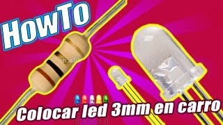 Colocar LED 3mm en carro