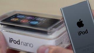 iPod Nano (7th Gen) Black/Slate Unboxing, Size Comparison, & OS Tour