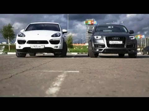 audi q7 abt tdi vs porsche cayenne diesel youtube. Black Bedroom Furniture Sets. Home Design Ideas