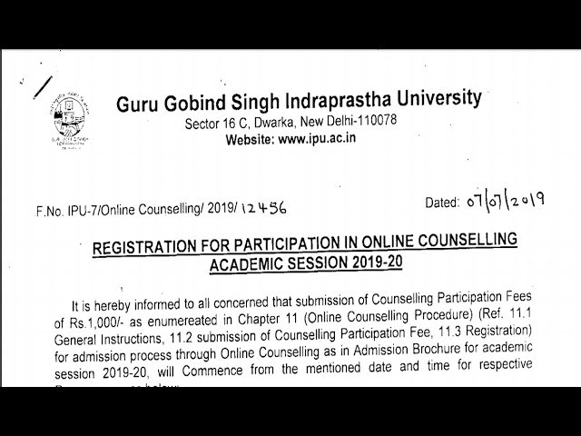IP-University online counselling registration Important notice information GGSIPU|Rahul Chandrawal