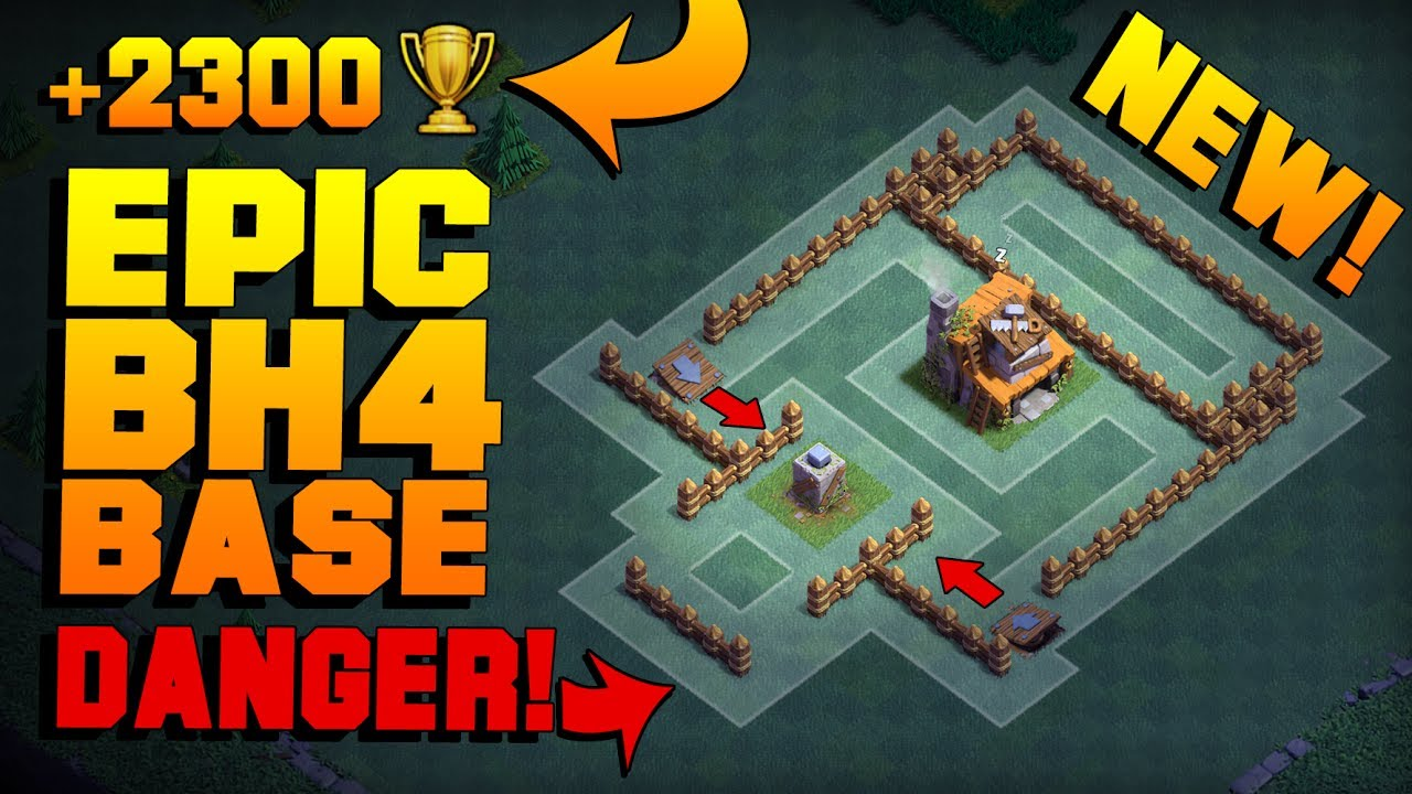 Most epic builder hall 4 base w proof best coc bh4 Best builder house 4 base