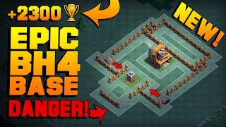 MOST EPIC Builder Hall 4 Base w/ PROOF!! | BEST CoC BH4 Anti 2 Star Builder Base! | Clash of Clans