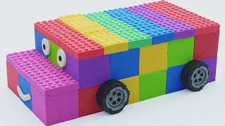 How To Make Rainbow Bus Cars With Kinetic Sand Lego Learn Colors & Learn Numbers Mad Mattr For Kids