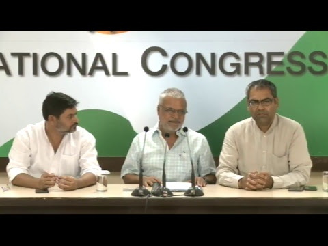 AICC Press Briefing By Dr. C. P. Joshi at Congress HQ, June 12, 2017