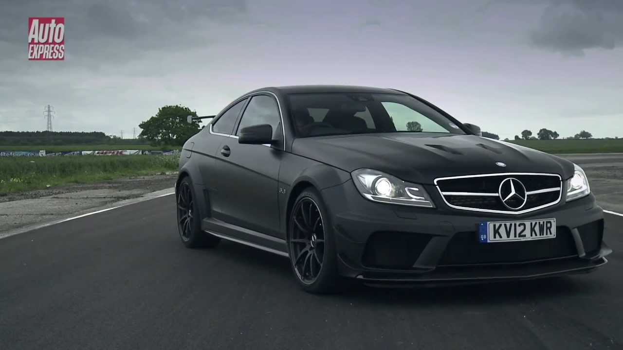 mercedes c63 amg black series auto express youtube. Black Bedroom Furniture Sets. Home Design Ideas
