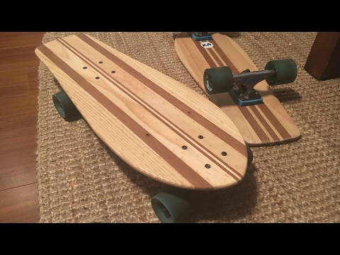 Making a solid wood skateboard cruiser