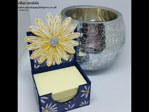 Tiny Adorable Post it Note Holder Using Delightful Daisy