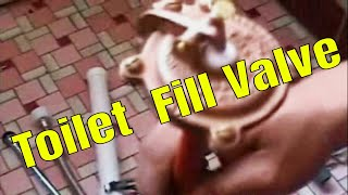 Toilet Fill Valve Install And Replace.