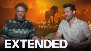 Seth Rogen, Billy Eichner On Singing With Beyonce In 'The Lion King' | EXTENDED