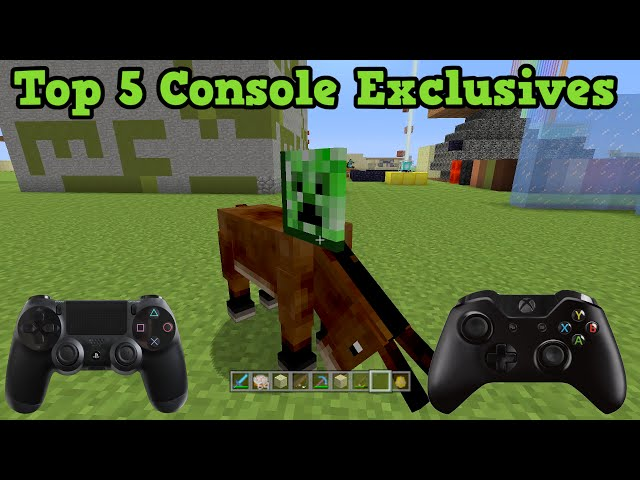Minecraft Xbox + PS3 + PS4 - Top 5 Exclusives (Console vs PC