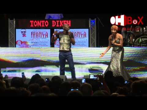 Tonto Dikeh falls @ Iyanya's London Concert