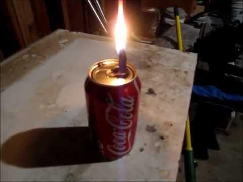 Coke Can Waste Motor Oil Lantern