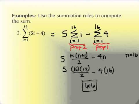 4 2 Sums and Sigma Notation TR - YouTube