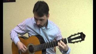 ''Ой у вишневому саду'' (аранжировка на гитаре В.Трощинков) уроки гитары Киев и Скайп
