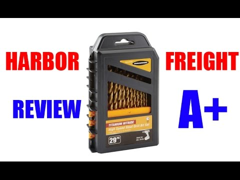 HARBOR FREIGHT REVIEW: 29pc Drill Bits