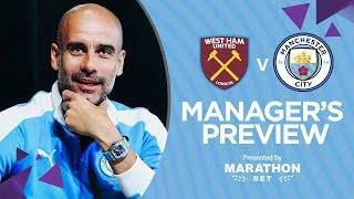 Guardiola Press Conference | West Ham v Man City