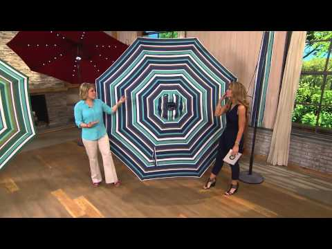 ATLeisure 9' Easy Light Touch Solar Umbrella with 44 LEDs with Jennifer Coffey