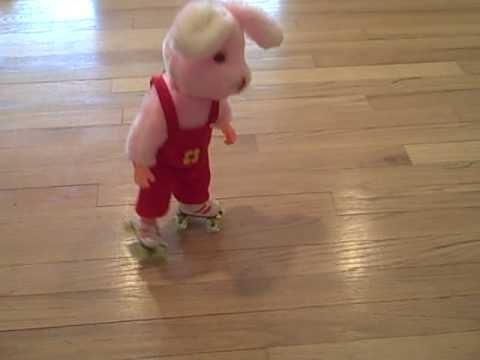 Roller Skating Musical Easter Bunny Rabbit Toy -
