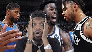 WHY RUSSELL TAKING THE LAST SHOT?? YOU GONNA MAKE PG LEAVE BRO! THUNDER vs PACERS & NETS HIGHLIGHTS
