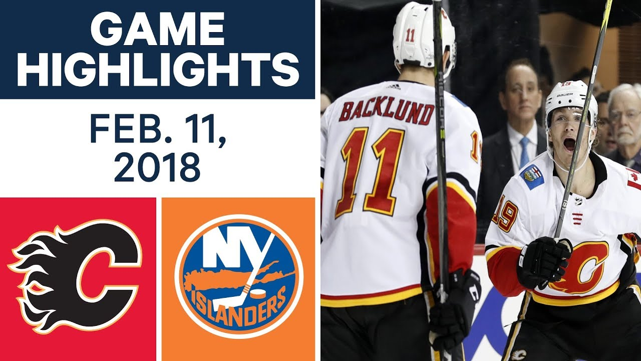 NHL Game Highlights | Flames vs. Islanders - Feb. 11, 2018