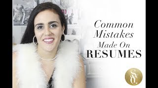 Common Mistakes On CVs